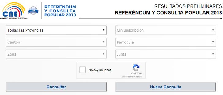 Resultado de elecciones 2018 Ecuador