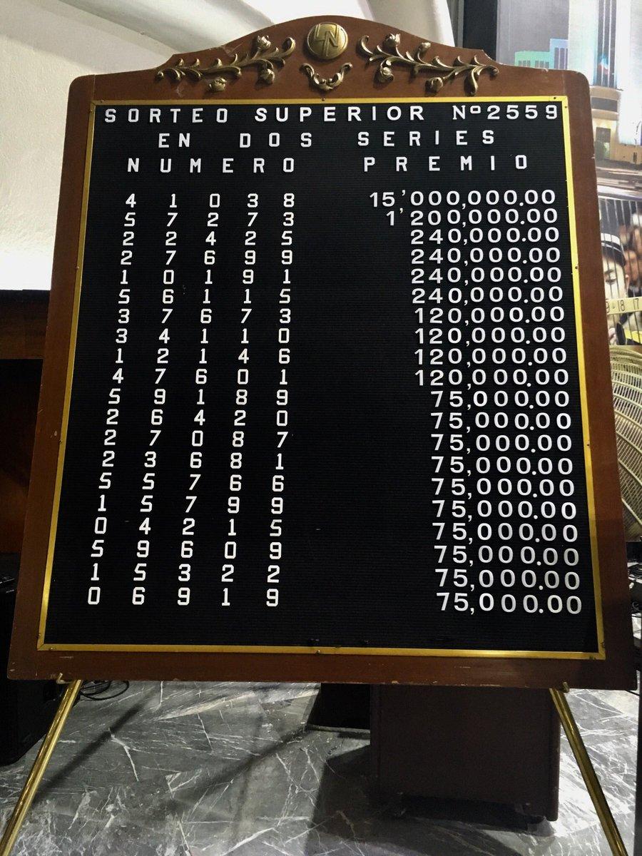 Resultados sorteo superior 2559