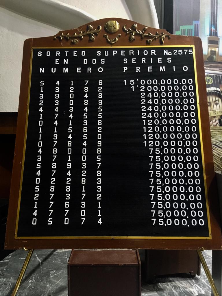 Resultados sorteo superior 2575