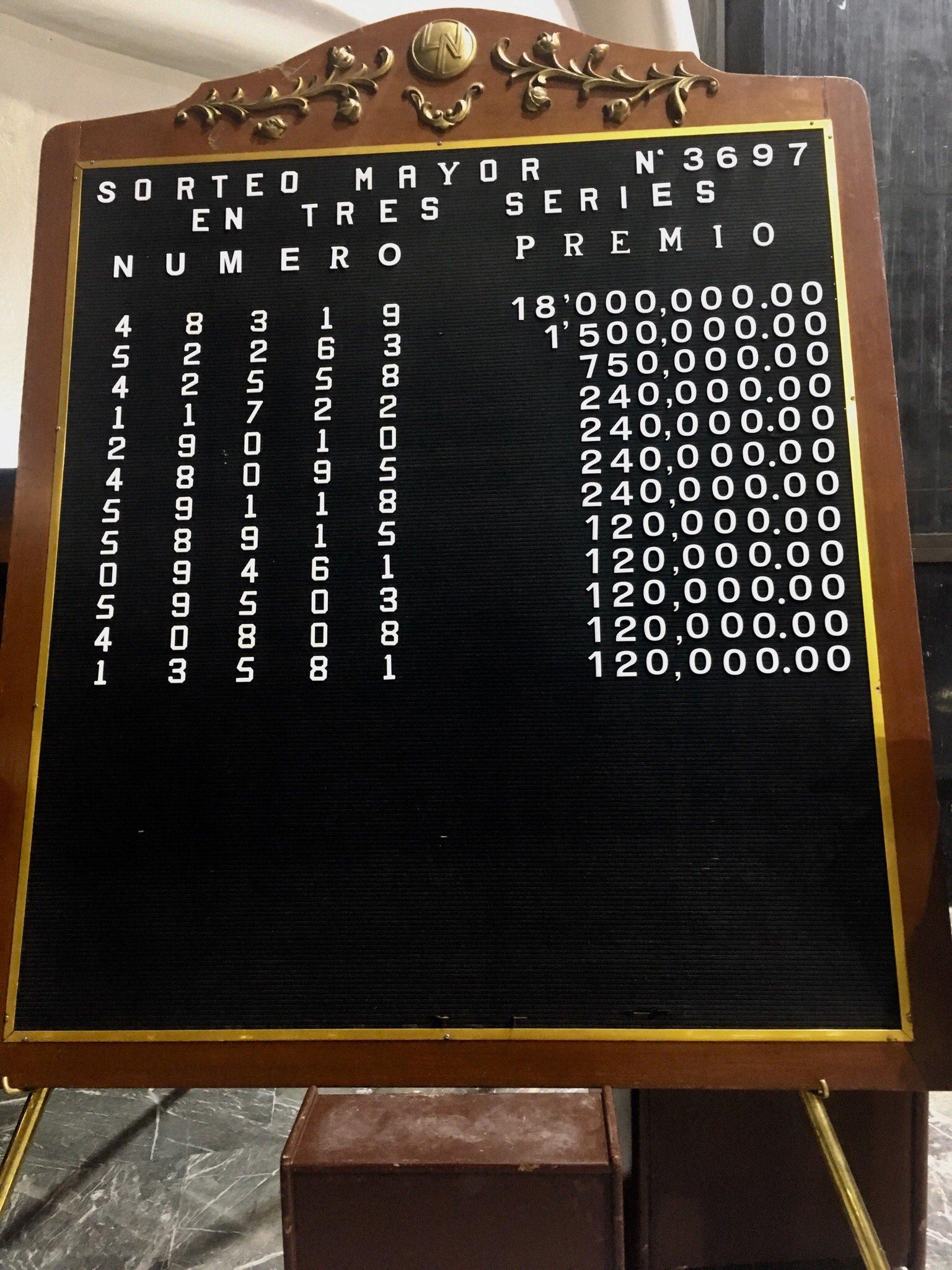 Sorteo Mayor 3697