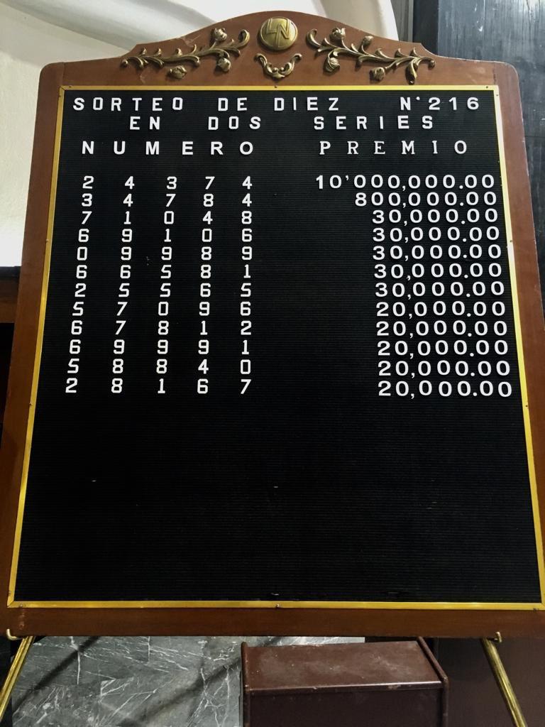 Sorteo De Diez 216