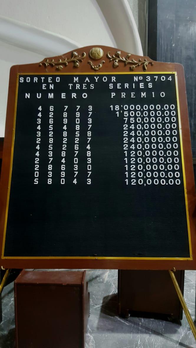 Sorteo Mayor 3704