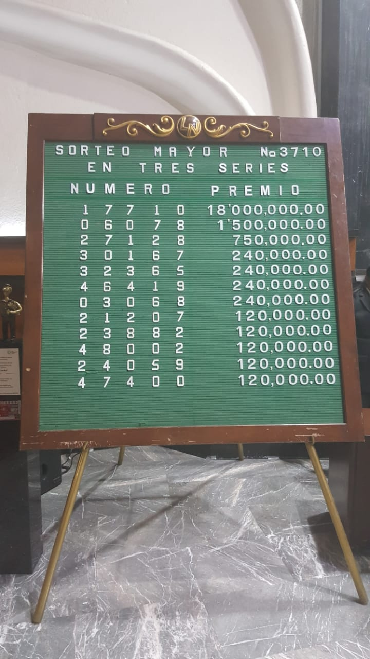 Sorteo Mayor 3710