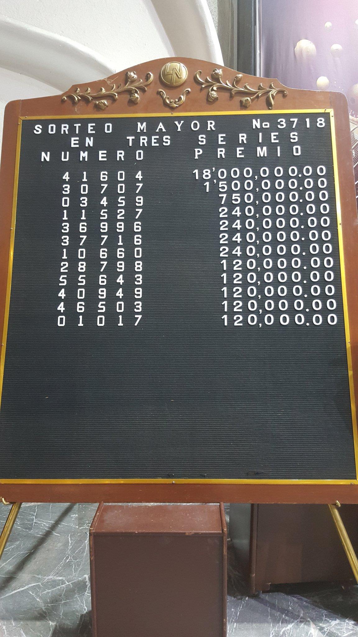 Sorteo Mayor 3718