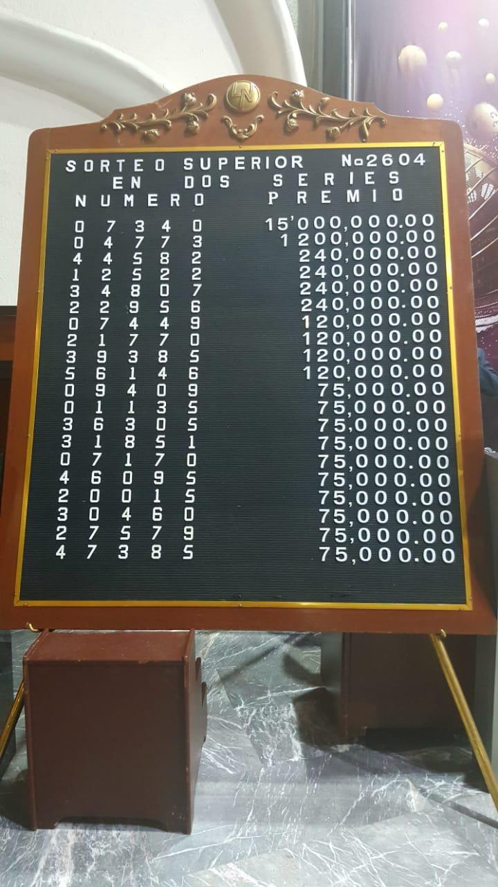 Sorteo Superior 2604