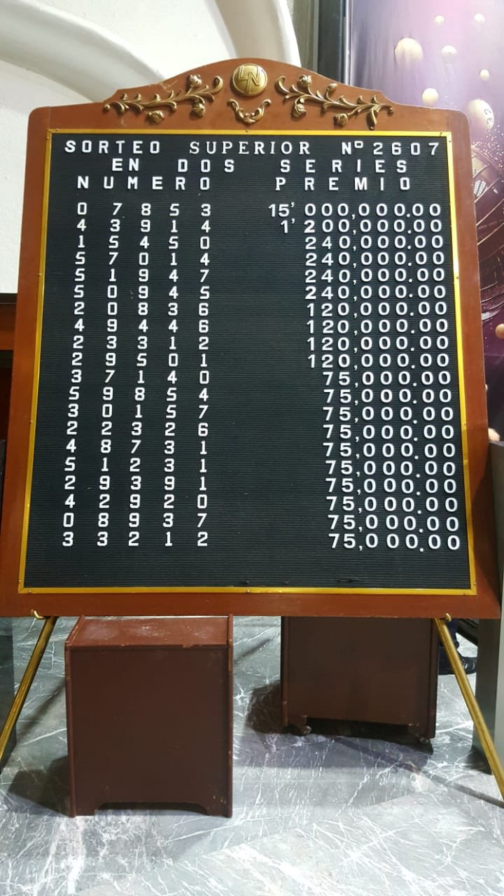 Resultados sorteo superior 2607
