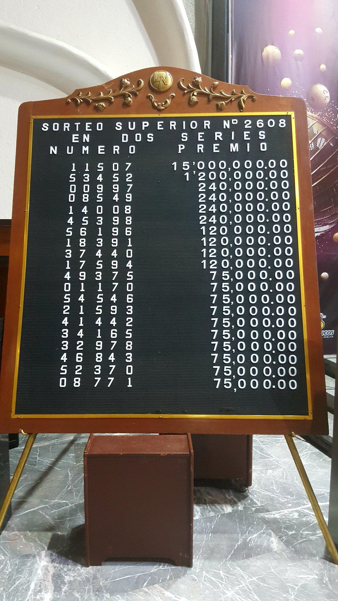Sorteo Superior 2608