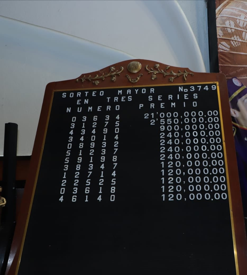Resultados sorteo mayor 3749