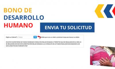 solicitud bono de desarrollo humano, pedir bono Ecuador