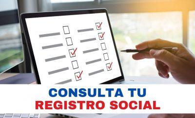 Consulta tu Registro Social MIES