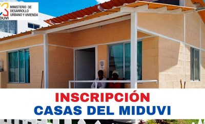 Inscripción para viviendas del MIDUVI