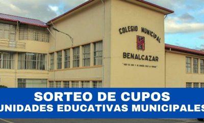 Sorteo de Cupos en Unidades Educativas Municipales de Quito