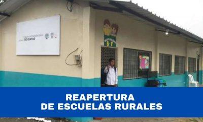 Reapertura de Escuelas Rurales en Ecuador